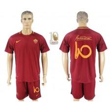 Men 2017-2018 club Rome home Tohti Memorial red soccer jersey