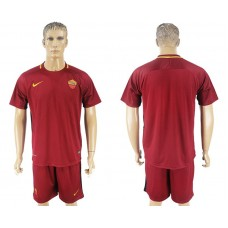 Men 2017-2018 club Rome home blank red soccer jersey