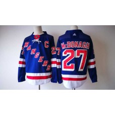 2017 Men NHL New York Rangers 27 McDonagh Adidas blue jersey