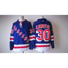 2017 Men NHL New York Rangers 30 Lundqvist Adidas blue jersey