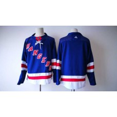 2017 Men NHL New York Rangers Adidas blue blank  jersey