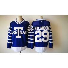 2017 Men NHL Toronto Maple Leafs 29 Nylander Adidas blue jersey