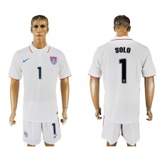 Men 2017-2018 National United States home 1 white soccer jersey