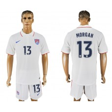 Men 2017-2018 National United States home 13 white soccer jersey1