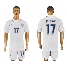Men 2017-2018 National United States home 17 white soccer jersey