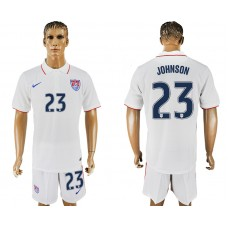 Men 2017-2018 National United States home 23 white soccer jersey