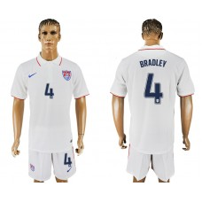 Men 2017-2018 National United States home 4 white soccer jersey