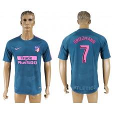 Men 2017-2018 club Atletico Madrid away 7 blue aaa version soccer jersey
