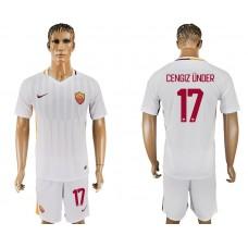 Men 2017-2018 club Rome away 17 white soccer jersey