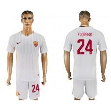 Men 2017-2018 club Rome away 24 white soccer jersey