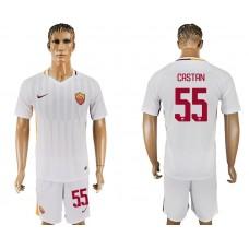 Men 2017-2018 club Rome away 55 white soccer jersey