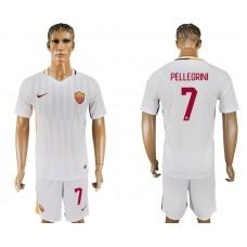 Men 2017-2018 club Rome away 7 white soccer jersey