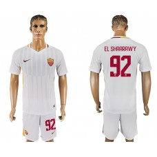 Men 2017-2018 club Rome away 92 white soccer jersey
