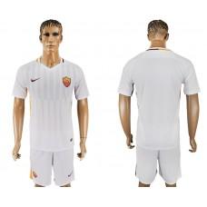 Men 2017-2018 club Rome away blank white soccer jersey