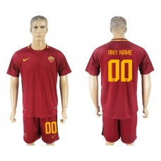 Men 2017-2018 club Rome home customized red soccer jersey