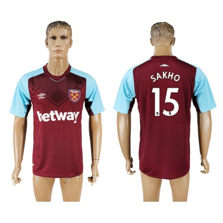 Men 2017-2018 club West ham at home 15 red aaa version soccer jersey