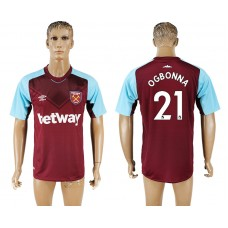 Men 2017-2018 club West ham at home 21 red aaa version soccer jersey
