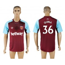 Men 2017-2018 club West ham at home 36 red aaa version soccer jersey