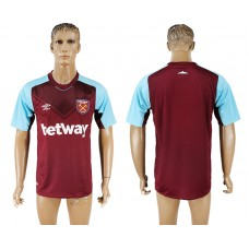 Men 2017-2018 club West ham at home blank red aaa version soccer jersey