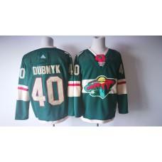 Men Minnesota Wild 40 Devan Dubnyk Green Adidas Hockey Stitched NHL Jerseys