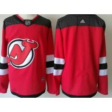 Men New Jersey Devils Blank Red 2017-2018 Adidas Hockey Stitched NHL Jerseys