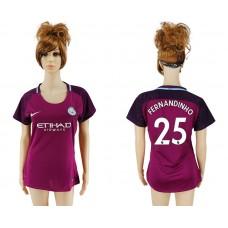 2017-2018 Club manchester city away aaa version women 25 soccer jersey