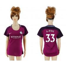 2017-2018 Club manchester city away aaa version women 33 soccer jersey