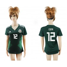 2018 World Cup National Mexico  home aaa version womens 12 green soccer jersey