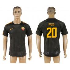 Men 2017-2018 club Rome Second away aaa version 20 black soccer jersey