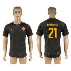 Men 2017-2018 club Rome Second away aaa version 21 black soccer jersey