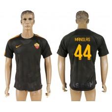 Men 2017-2018 club Rome Second away aaa version 44 black soccer jersey