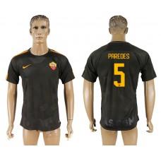 Men 2017-2018 club Rome Second away aaa version 5 black soccer jersey