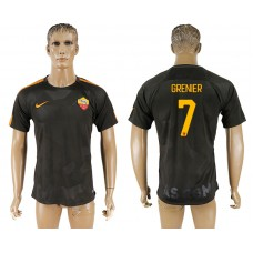 Men 2017-2018 club Rome Second away aaa version 7 black soccer jersey