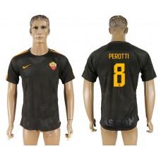 Men 2017-2018 club Rome Second away aaa version 8 black soccer jersey