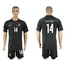 Men 2018 World Cup National Portuga away 14 black soccer jersey