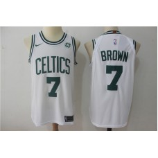 Men Boston Celtics 7 Brown White NBA Jerseys