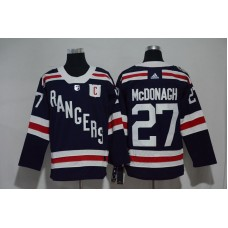 2017 Men NHL New York Rangers 27 McDonagh blue Adidas jersey