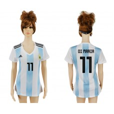 2018 World Cup Argentina home aaa version women 11 soccer jersey