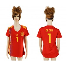 2018 World Cup National Spain  home aaa version women 1 soccer jersey