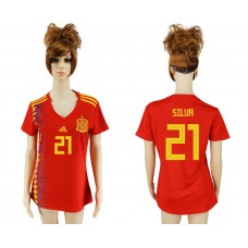 2018 World Cup National Spain  home aaa version women 21 soccer jersey