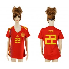 2018 World Cup National Spain  home aaa version women 22 soccer jersey