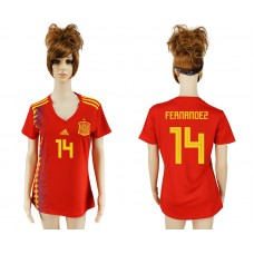 2018 World Cup National Spain home aaa version women 14 soccer jersey