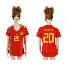 2018 World Cup National Spain home aaa version women 20 soccer jersey