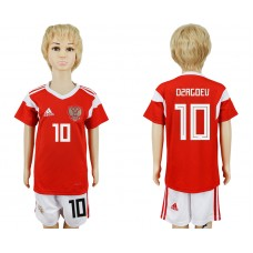 2018 World Cup Russia home kids 10 red soccer jersey1