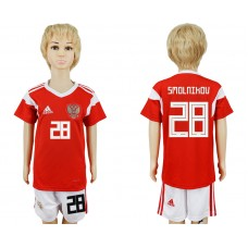2018 World Cup Russia home kids 28 red soccer jersey