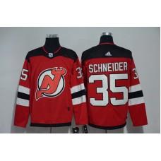 Men New Jersey Devils 35 Schneider Red Hockey Stitched Adidas NHL Jerseys