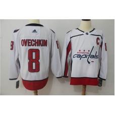 Men Washington Capitals 8 Ovechkin white Adidas Hockey Stitched NHL Jerseys