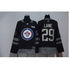 Men Winnipeg Jets 29 Patrik Laine Black Hockey Stitched Adidas NHL Jerseys