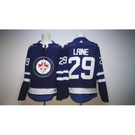 Men Winnipeg Jets 29 Patrik Laine Blue Hockey Stitched Adidas NHL Jerseys