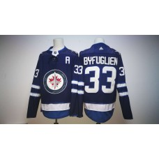 Men Winnipeg Jets 33 Dustin Byfuglien Blue Hockey Stitched Adidas NHL Jerseys